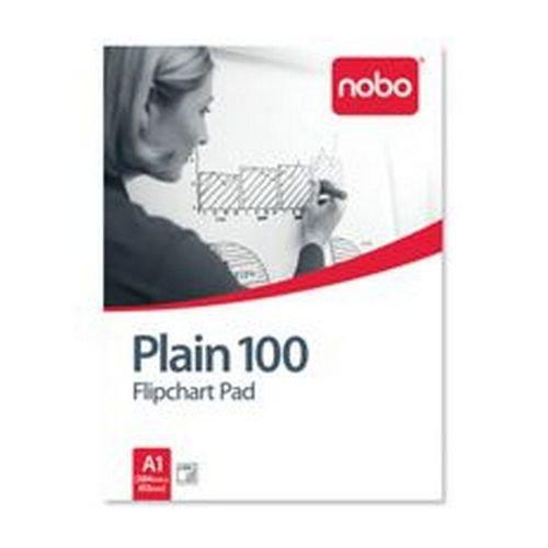 Nobo Flipchart Pad A1 Plain 100 Sheets
