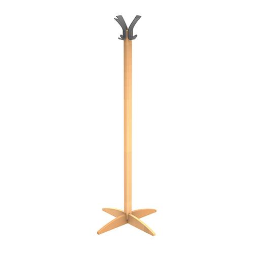 )Alba Woody 8 Peg Coat Stand - Oak