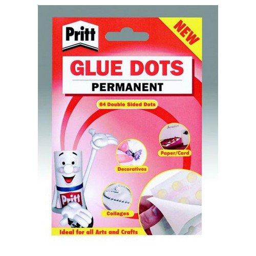 Pritt Glue Dots Permanent 64 per Wallet