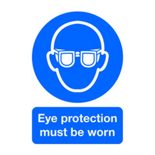Image for Signs & Labels A4 Eye Protection Must Be Worn PVC