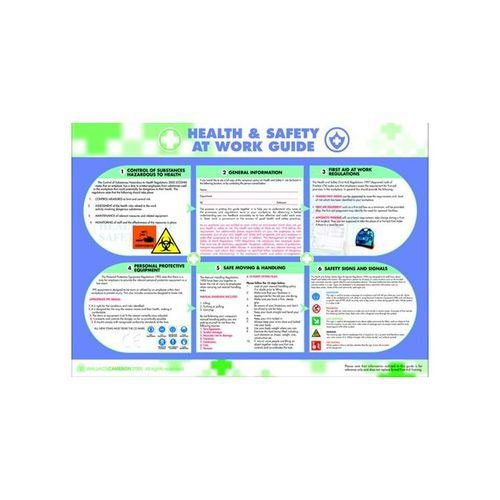 Health Safety Work Poster  594 X 420MM