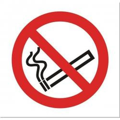 No Smoking Vehicle Sign Clear