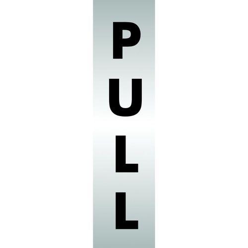 Brushed Aluminium Acrylic Sign Pull