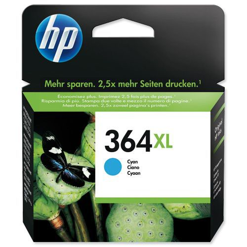 HP 364XL Cyan High Yield Inkjet (Pack of 1)CB323EE
