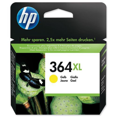 HP 364XL Yellow High Yield Inkjet (Pack of 1)CB325EE