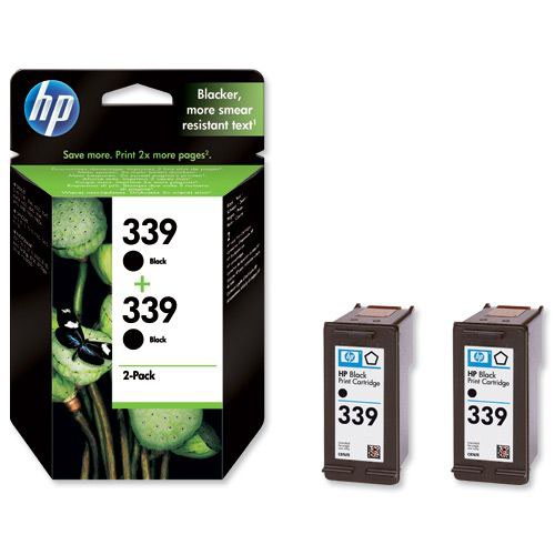 Hewlett Packard No 339 Ink Cartridge Black Twin Pack  C9504EE