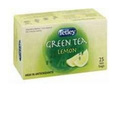 Tetley Green Lemon 25 Drawstring Envelope Tea Bags