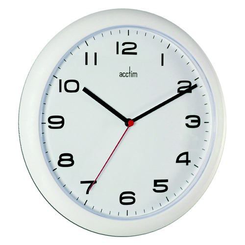 Image for Acctim Aylesbury Wall Clock White 92/301