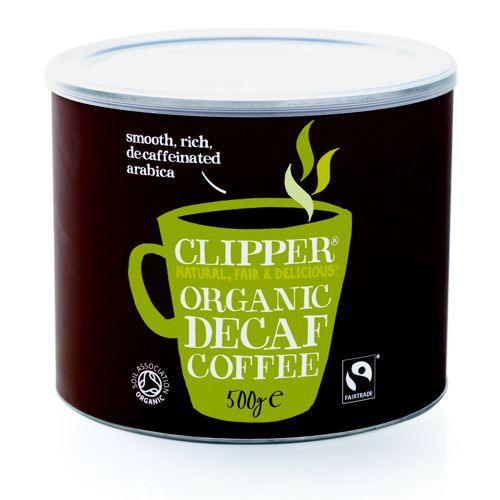 Clipper Fairtrade Decafeinated Coffee 500g