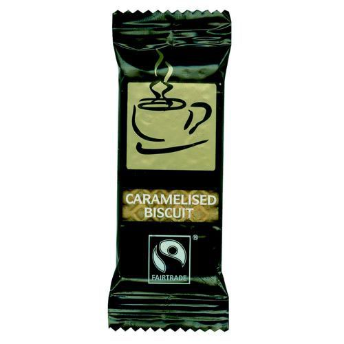 Fairtrade Coffee Biscuits Caramelised Individually-Rrapped Portions Pack 300