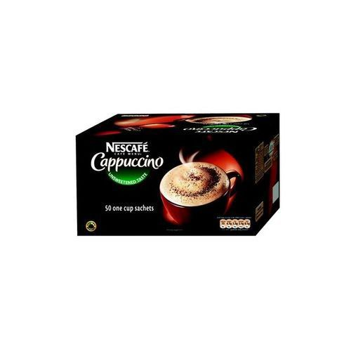 Nescafe Cappuccino Instant Coffee One Cup Sachets Pack 50