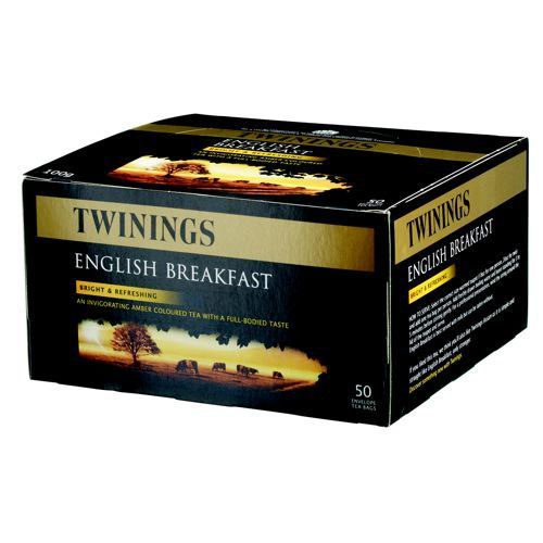Twinings Tea Bags Traditional English Breakfast Fine High Quality Aromatic Pack 100