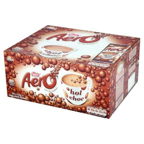Aero Hot Chocolate Sachets 24g Pack 40