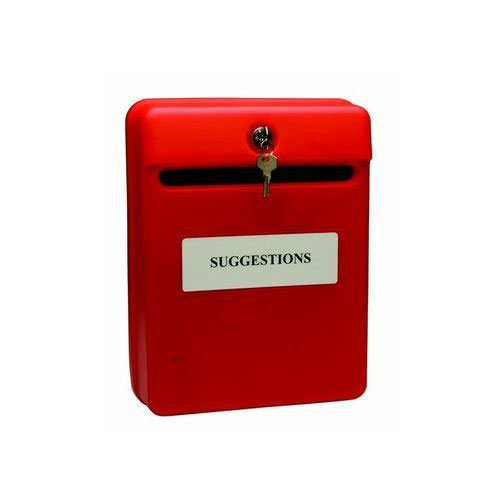 Image for Helix Post Or Suggestion Box Wall-Mountable With Fixings 235x130x310mm Red
