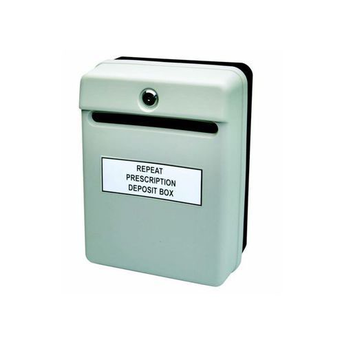 Image for Helix Post Or Suggestion Box Wall-Mountable With Fixings 235x130x310mm Grey