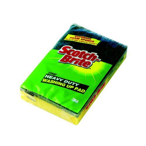3M Scotchbrite Washing Up Scourer And Sponge Pads Pack 10