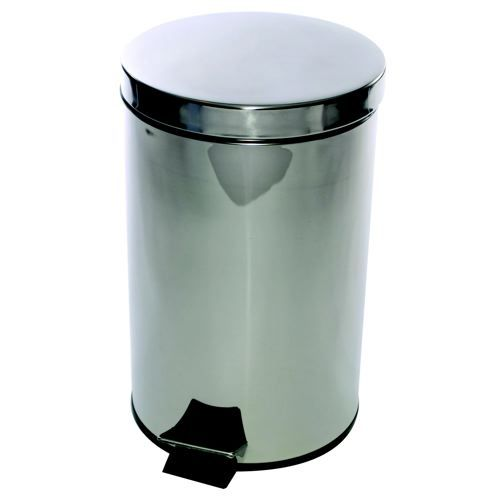 CPD Pedal Bin Stainless Steel with Removable Plastic Liner 12 Litres D300xH460mm Code VCO568W12