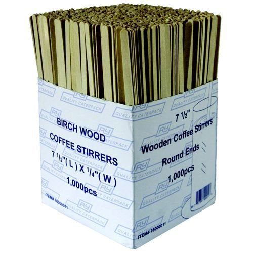 Wooden Coffee Stirrers (Pack of 1000) EIWS