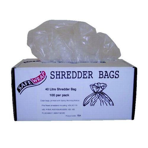 Safewrap 40 Litre Shredder Bags (Pack of 100) RY0470