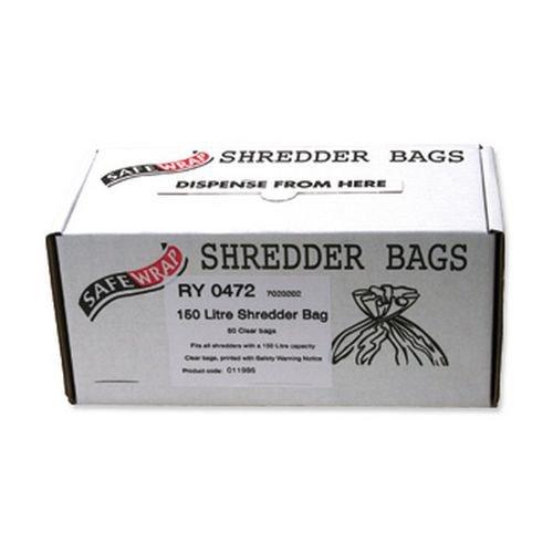 Safewrap 150 Litre Shredder Bags (Pack of 50) RY0472