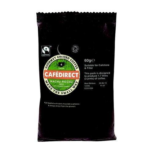 Cafe Direct Machu Pichu Peruvian Filter Coffee 60g Sachet Ref FCR1011 Pack 45