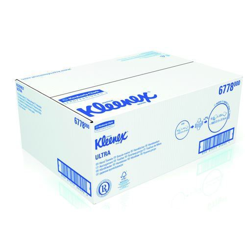 Kleenex Ultra Hand Towels Folded White Medium