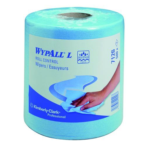 Wypall L10 Wipers Centrefeed Roll Blue Pack 6
