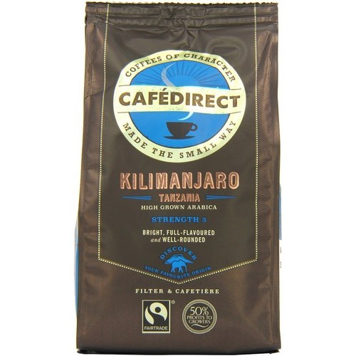 Cafe Direct Kilimanjaro Ground Coffee Fairtrade 227g x2 and FREE Cafetiere Apr-Jun 2016