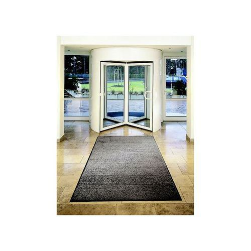 Doortex Mat on Roll Polypropylene Anti-Slip Plush Pile 900x3000mm Grey