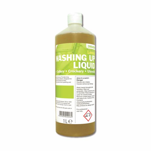 2Work Washing Up Liquid Lemon 1 Litre