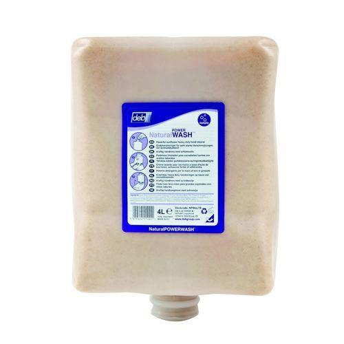 DEB Natural Power Wash Hand Soap Refill Cartridge 4 Litre
