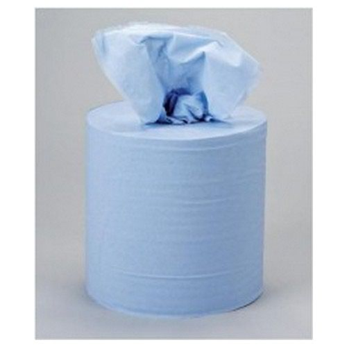5 Star Centrefeed 2 Ply 195mmx150m Blue Pack 6