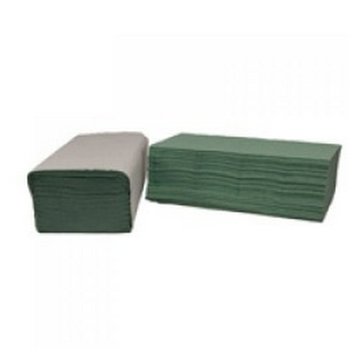 2Work Green I-Fold Hand Towel 1-Ply 190x250mm (Pack of 3600)
