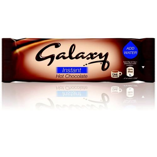 Galaxy Hot Chocolate Powder Sachets 25g Pack 50