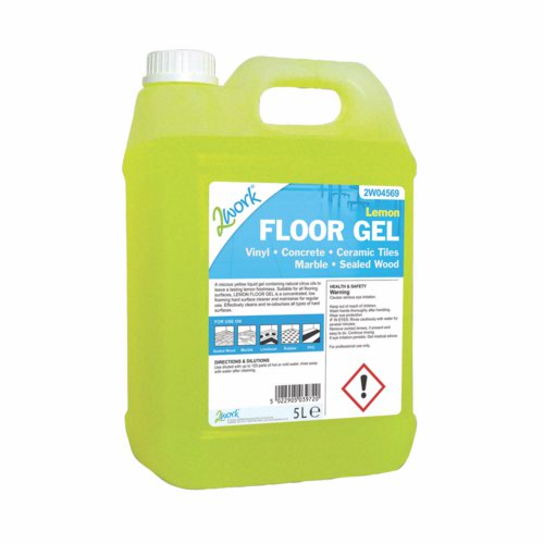 2Work Lemon Floor Gel 5 Litre 2W04569