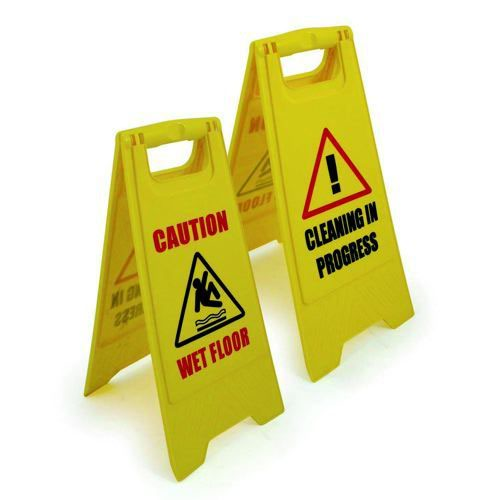 Stewart Superior Wet Floor Sign Yellow