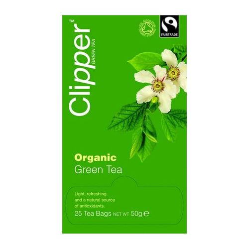 Clipper Organic Green Tea Light and Refreshing Teabags Pack 25