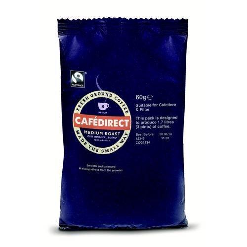Cafe Direct Medium Roast Coffee 60g 3 Pint Sachet Pack 45