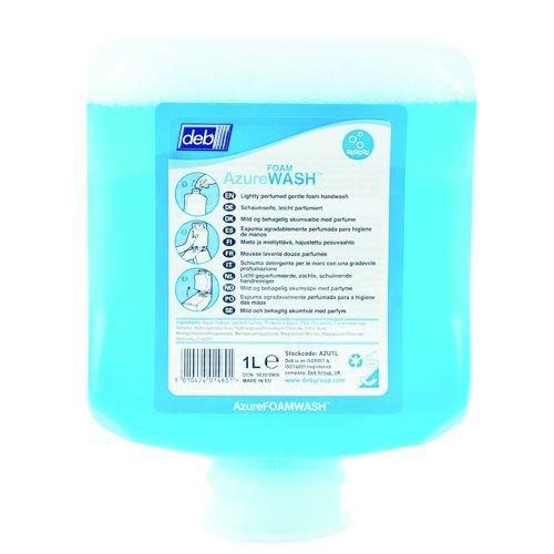 DEB Azure Foam Wash 1 Litre Cartridge Pack of 6