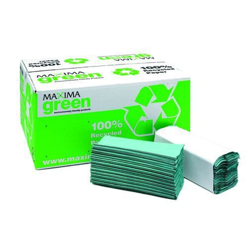 Hand Towels C Fold Recycled Green 1ply Pack 20
