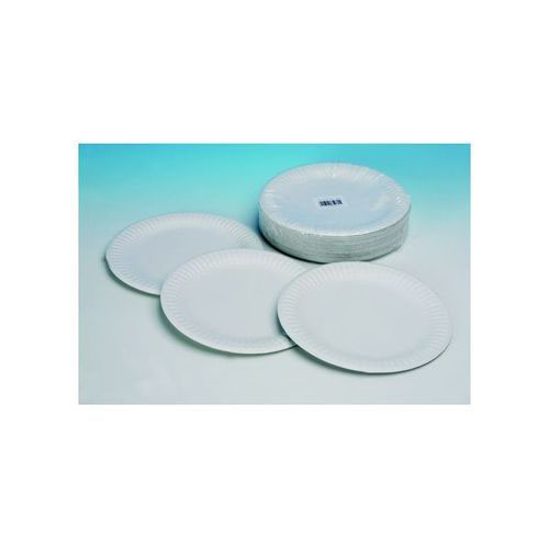 Plates Paper 7 Inches White Pack 100