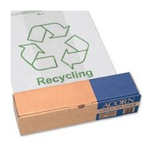 Acorn Green Recycle Bin Liners Pack 50
