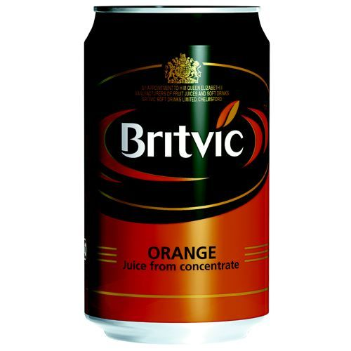 Britvic Orange Juice Cans 330ml Pack 24