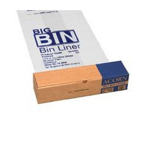 Acorn Big Bin Liners Re-usable Clear/Printed 1092x762mm Pack 50