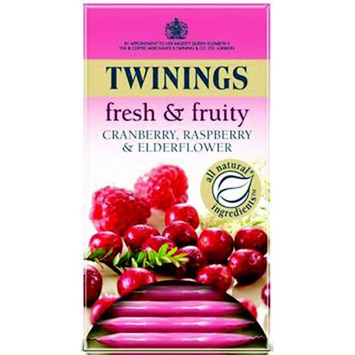 Twinings Infusion Cranberry Raspberry and Elderflower Tea Bags Pack 20