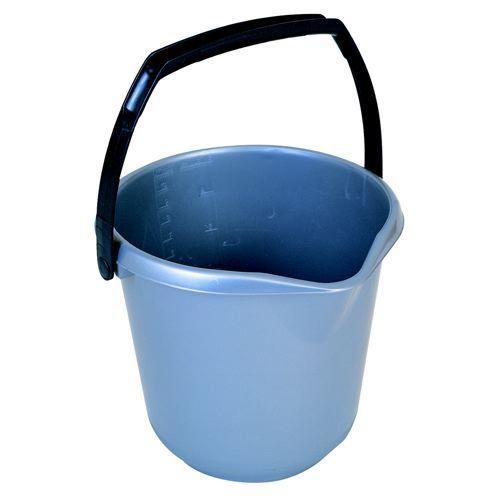 Addis 10 Litre Plastic Bucket Metallic 9642MET