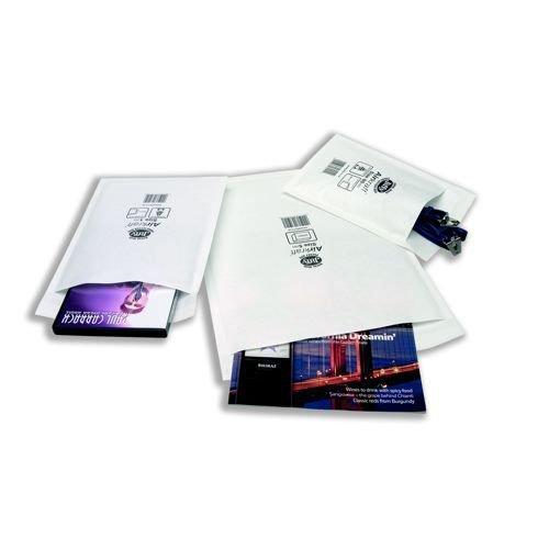 Jiffy Airkraft 000 White Internal 90 x 145mm External 120 x 160mm Pack 150
