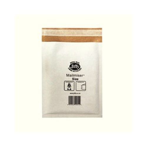 Jiffy Mailmiser Protective Envelopes Bubble-lined No.4 White 240x320mm Pack 50