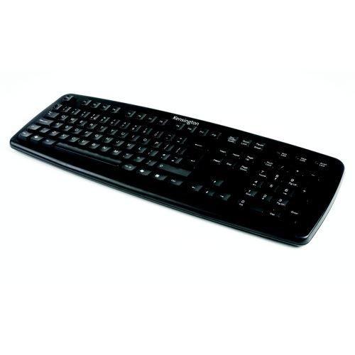 Kensington Wired USB UK Keyboard Black 1500109