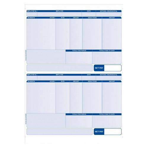 Iris Compatible Payslip Pack 1000